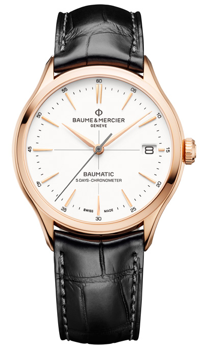 Clifton Baumatic, rose gold, stainless steel