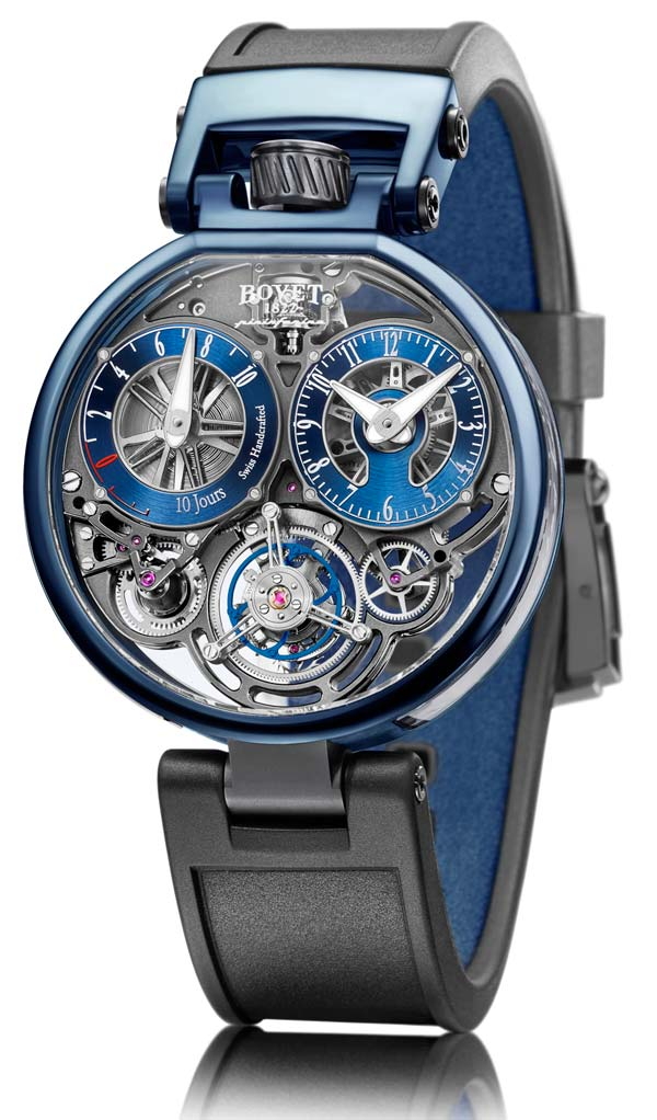 Ottantasei Flying Tourbillon, blue and bronze
