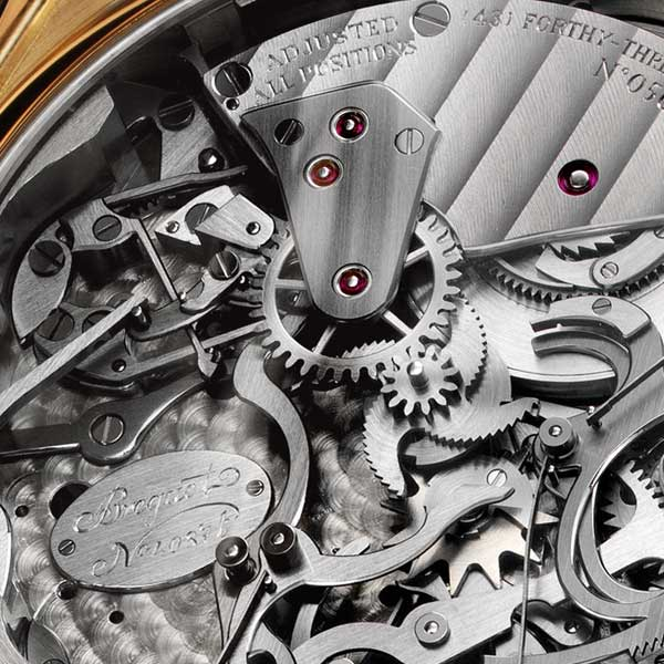 Each Breguet movement incorporates different types of decoration