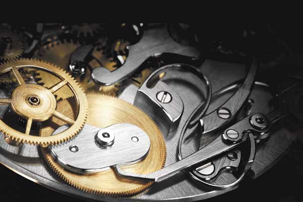 Brossage and colimaconnage on a Breguet movement