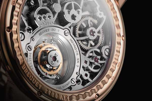 Anglage on a Breguet movement