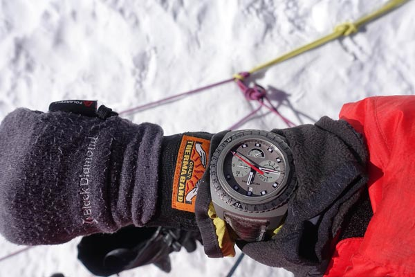 Adrian Ballinger summits Mt. Everest wearing the Raider Bivouac 9000