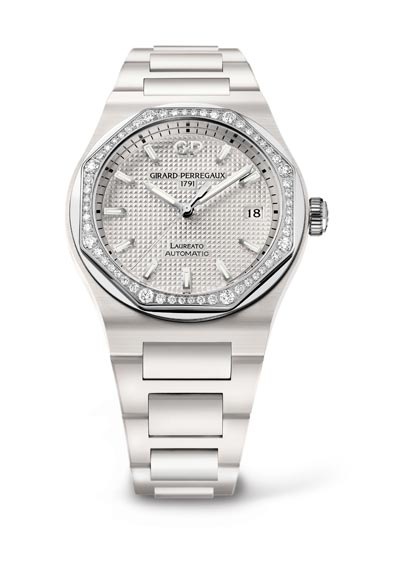 Laureato 38mm white ceramic