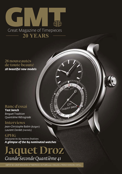 Jaquet Droz on the cover