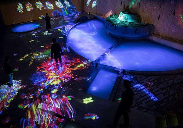 "Collaboration with teamLab in - ""teamLab: A Forest Where Gods Live, Ruins and Heritage - THE NATURE OF TIME""."