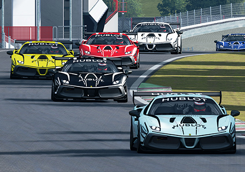 The virtual Ferrari Hublot Esports Series
