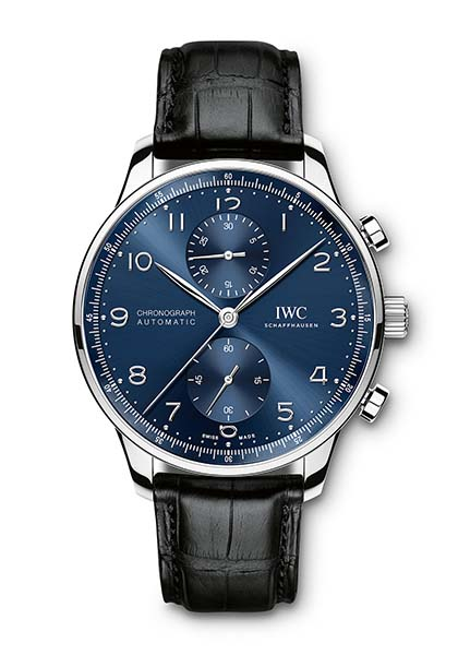 Two versions of Portugieser models in blue