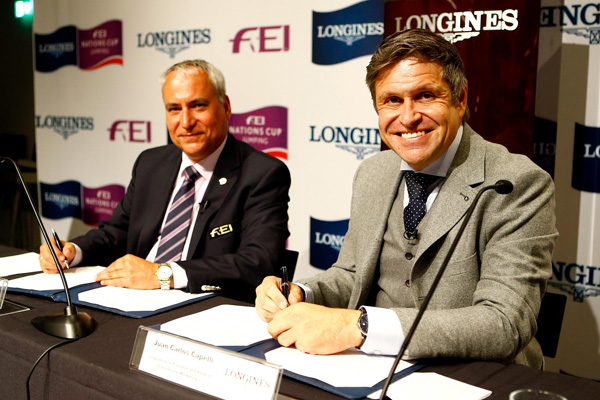 Long-term title partner of FEI Nations Cup