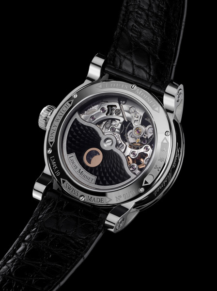Louis Moinet Metropolis for Only Watch case back