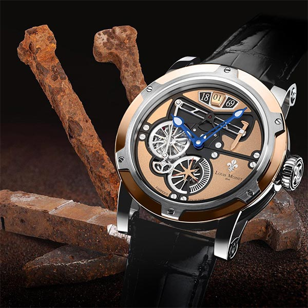 Railroad watches: Louis Moinet pays tribute to a transcontinental triumph