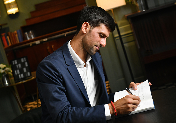 Novak Djokovic Discusses The Importance of Writing And Education At Montblanc Launch