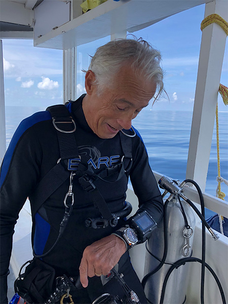 Luc Latapie and his Omega Seamaster