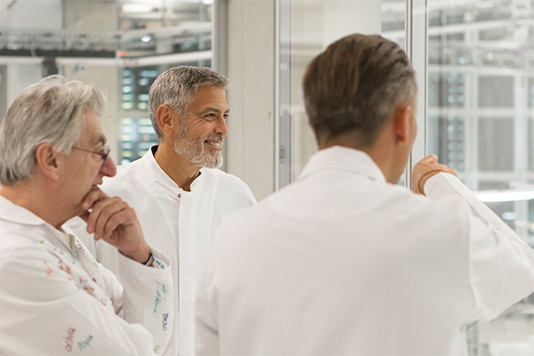 George Clooney visits the manufacture