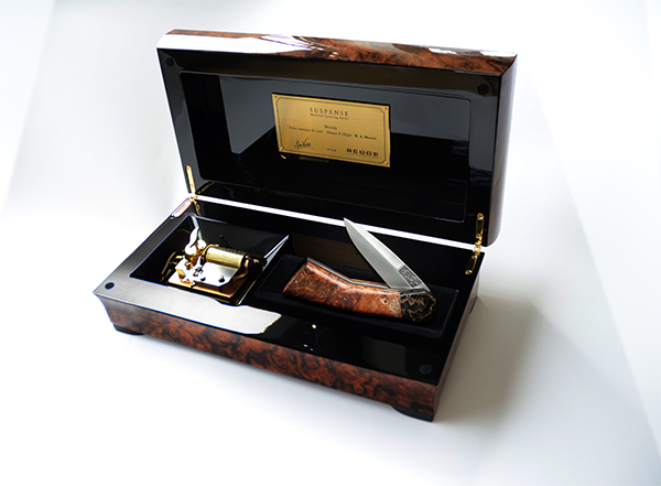 A music box in a knife