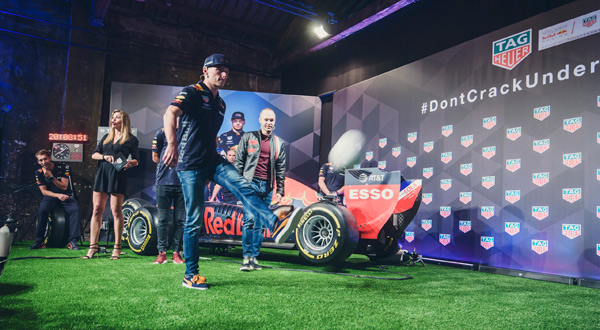 Andrés Iniesta, Daniel Ricciardo and Max Verstappen reunited for a unique challenge