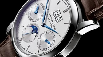 Saxonia Annual Calendar In Platinum Trends and style