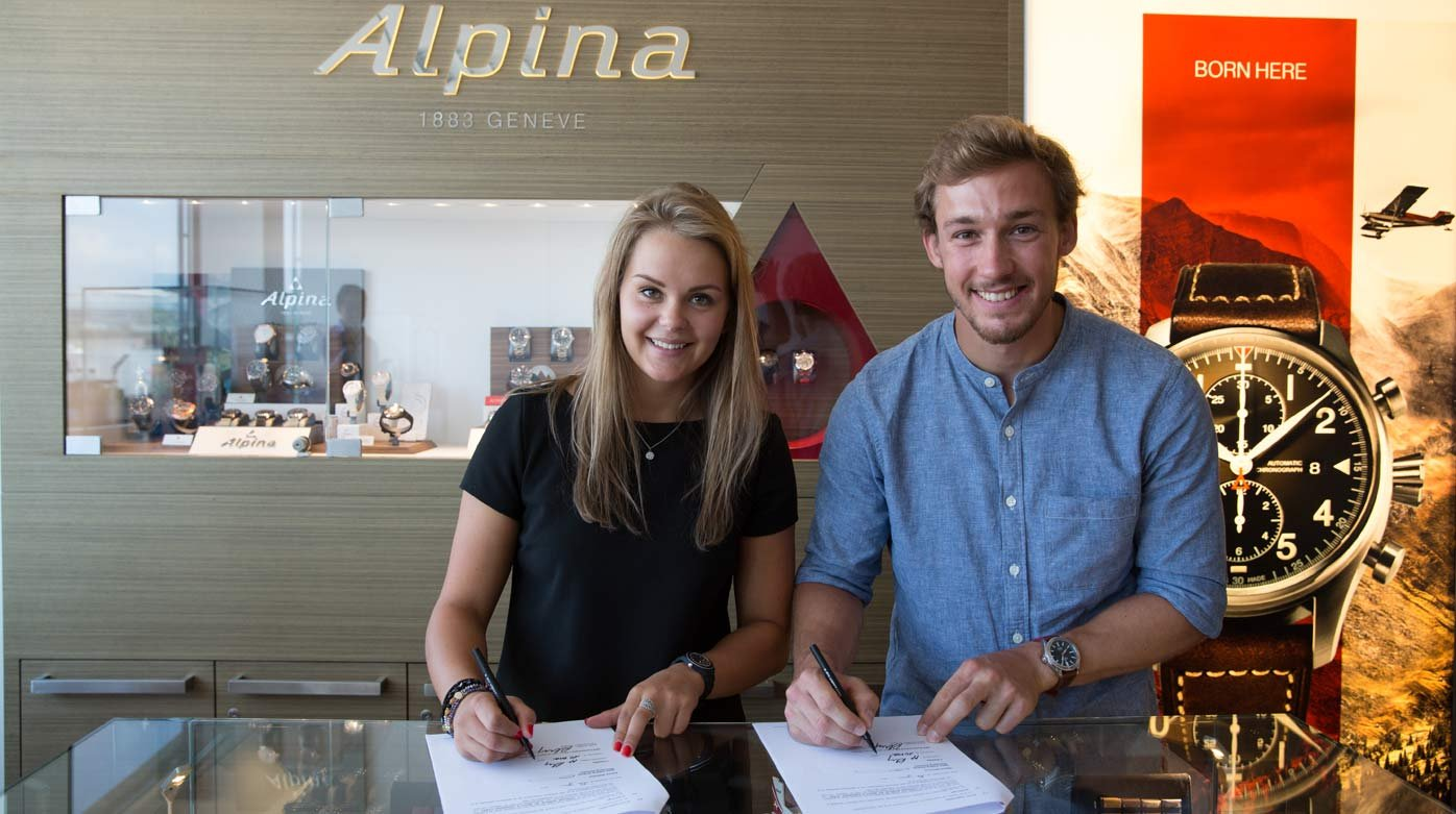 Alpina - Charlotte Chable and Luca Aerni, new ambassadors