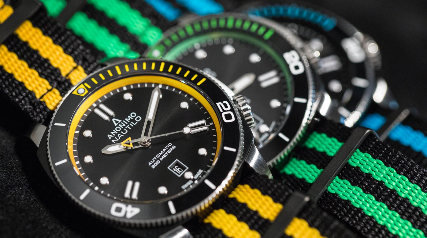 Anonimo - Four colourful Anonimo Nautilo models that are perfect for summer