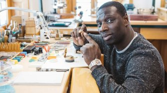 Freida Pinto and Omar Sy visit the Manufacture