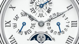 Villeret Collection  8-Day Perpetual Calendar, platinum Innovation and technology