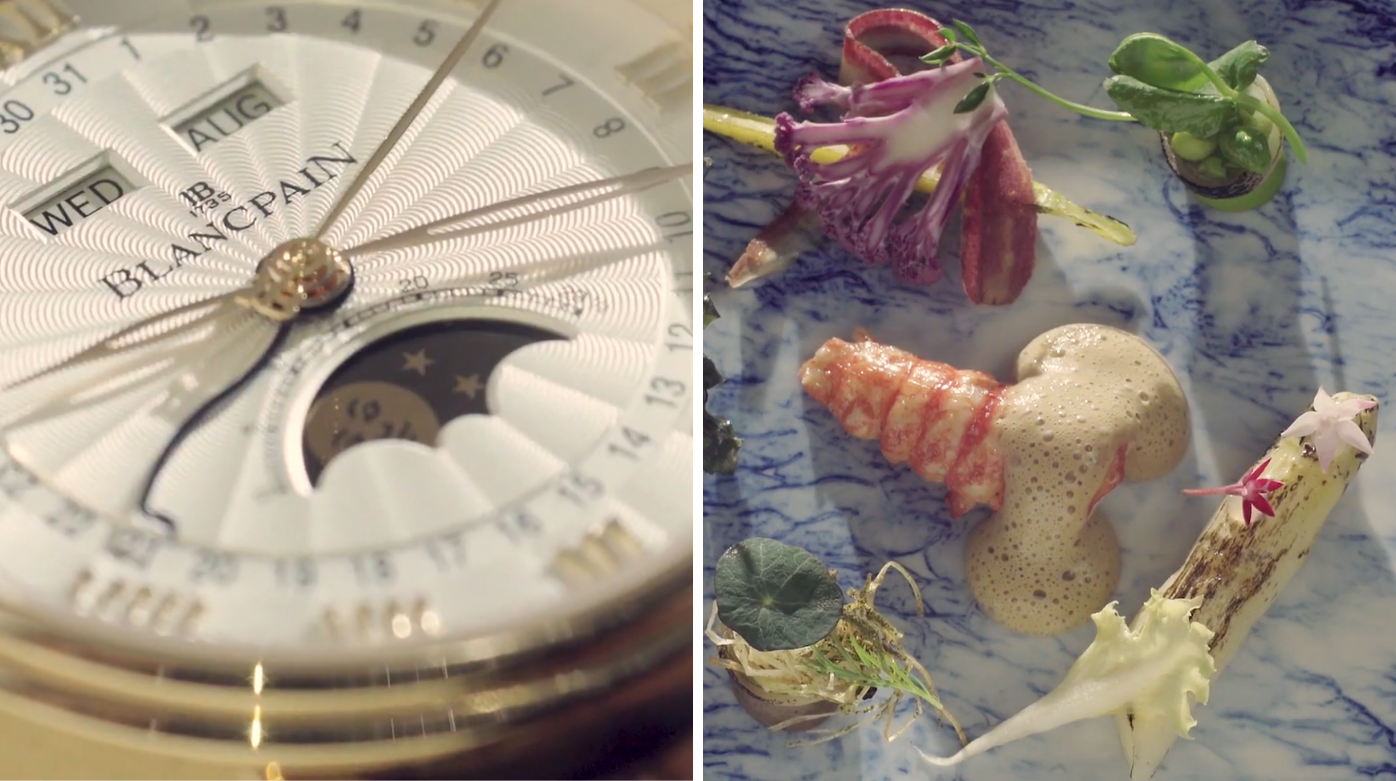 Blancpain - When gastronomy and watchmaking meet