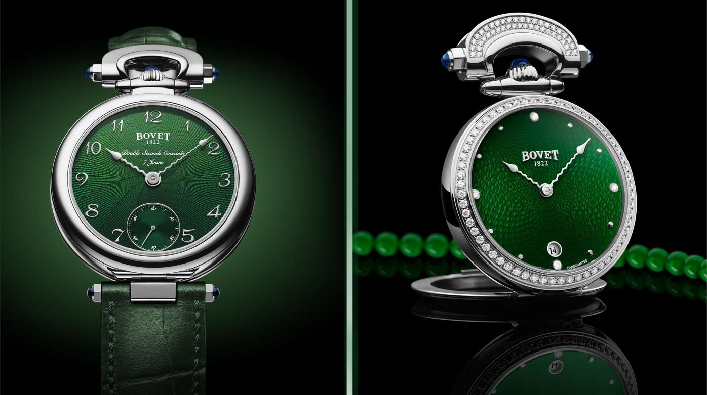 Bovet 1822 - Miss Audrey and Monsieur Bovet in green