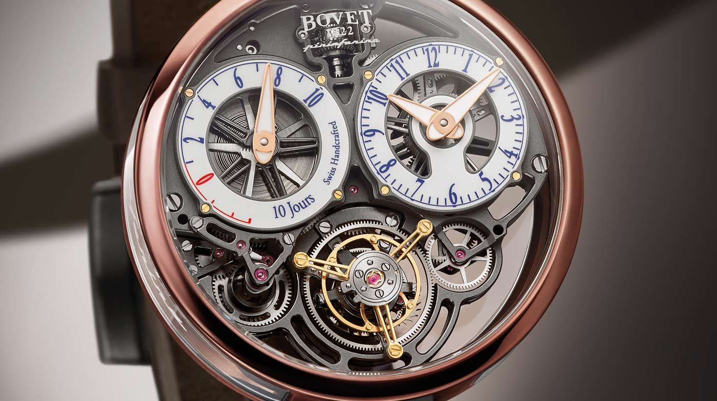 Bovet 1822 - Ottantasei Flying Tourbillon, blue and bronze