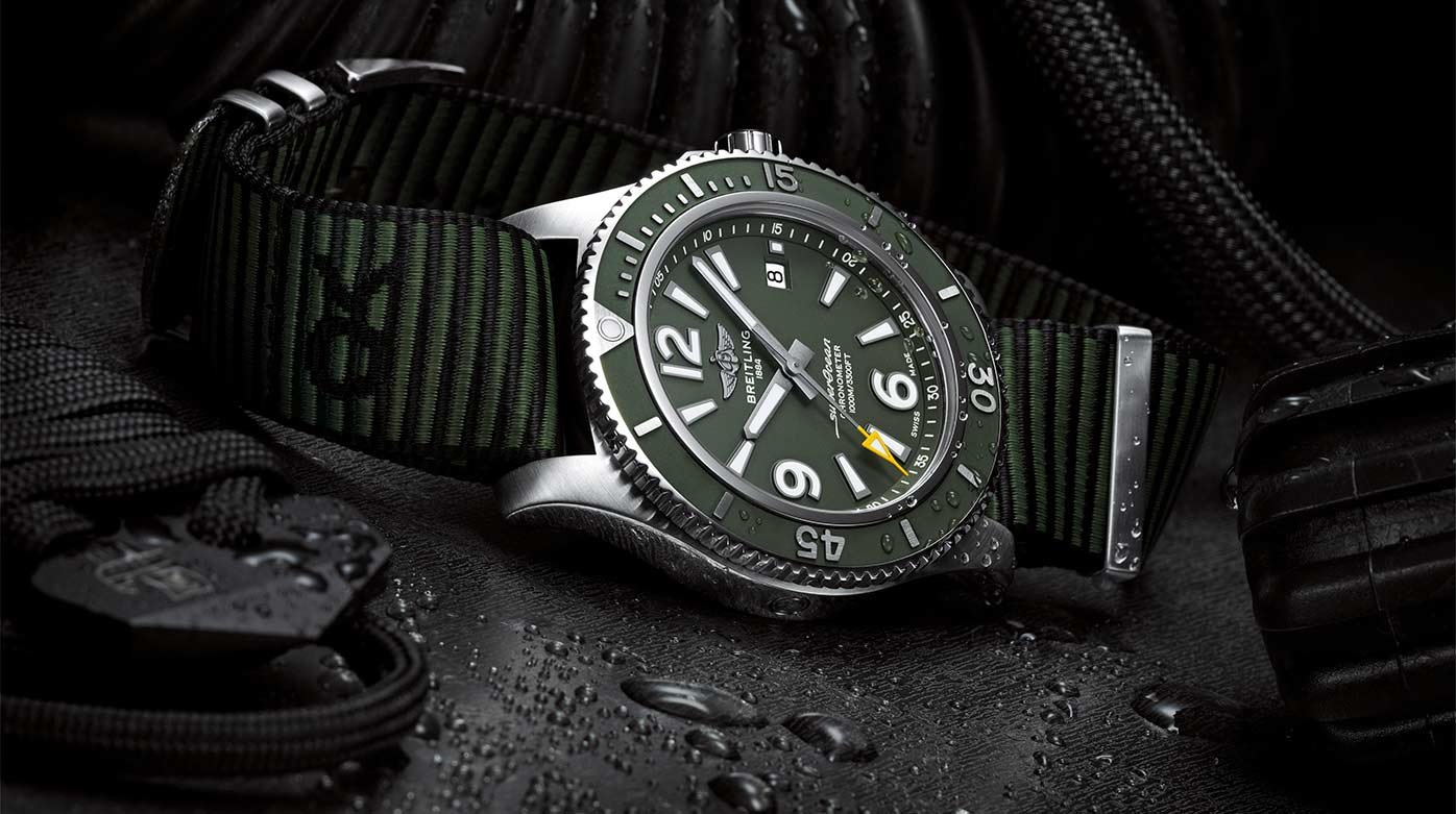 Breitling - New SuperOcean and Launch of Outerknown NATO Straps