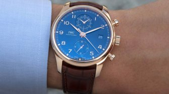 Portugieser Chronograph Classic Bucherer Blue Editions