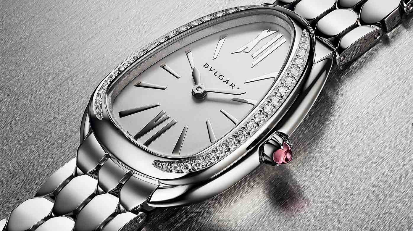 Bulgari  - La Serpenti Seduttori en acier et diamants