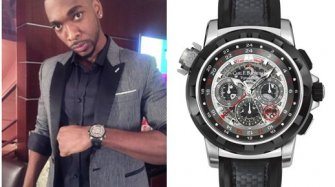 Jay Pharoah wearing Carl F. Bucherer watch at the VMAs