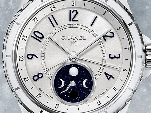 Chanel - J12 Moonphase, blanche