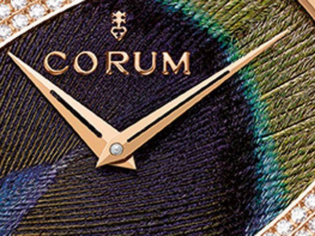 """Corum  - Feather Watch, """"Peacock Gold"""""""