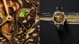 Ronde Louis Cartier Watch with wood and gold leaf marquetry Trends and style