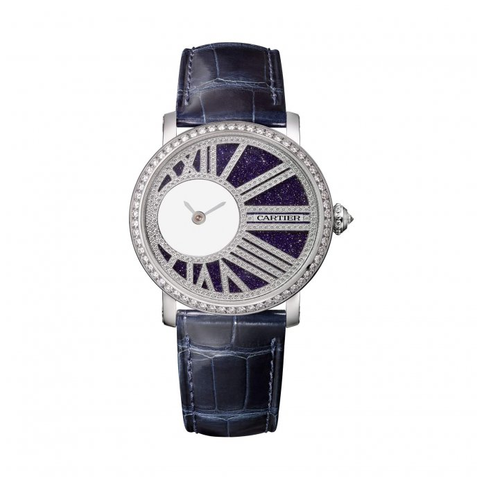 Montre Rotonde de Cartier Mysterious Hours Watch