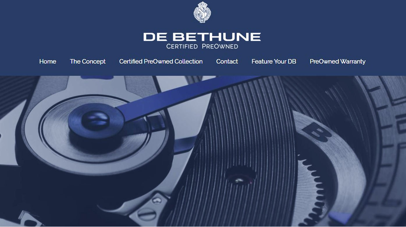 "De Bethune - ""Certified PreOwned Watches"" official website"