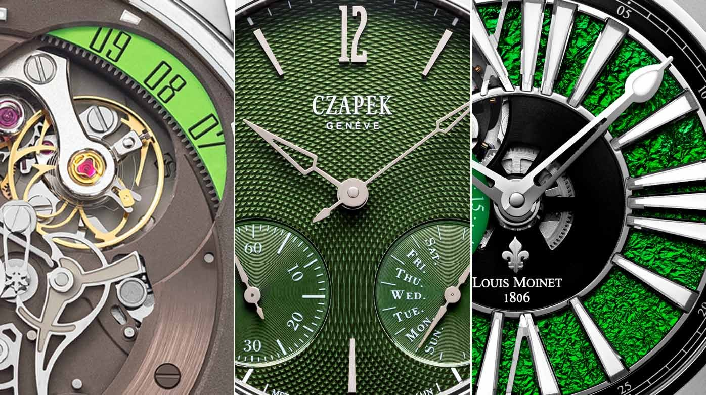 Watches with colour - Three watches with a hint of green