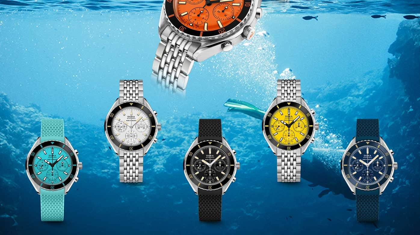 Doxa - The SUB 200 C-GRAPH breaks the waves in 6 colors