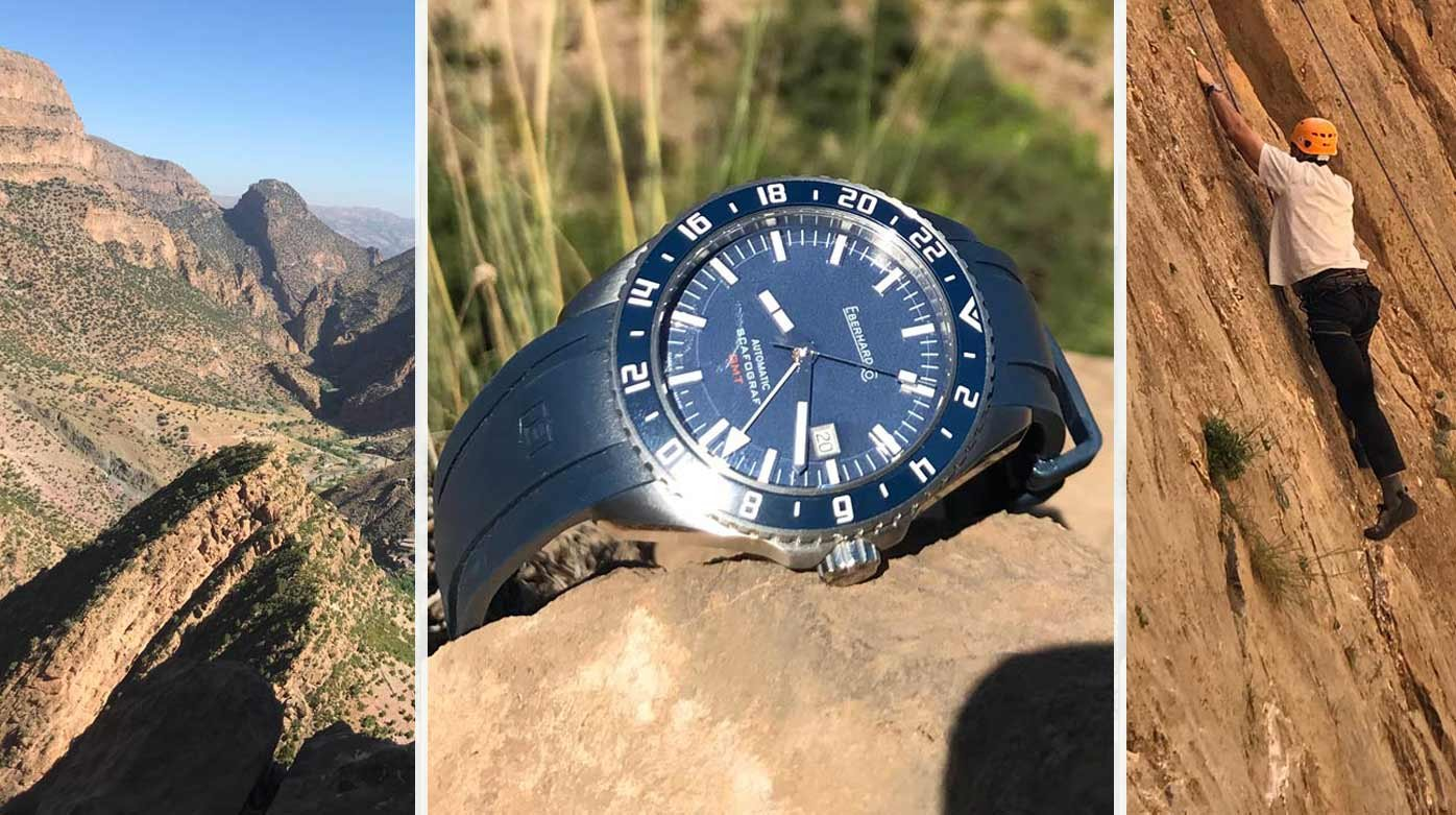 Eberhard & Co. - A Scafograf GMT, put to a punishing test in the Moroccan Atlas mountains