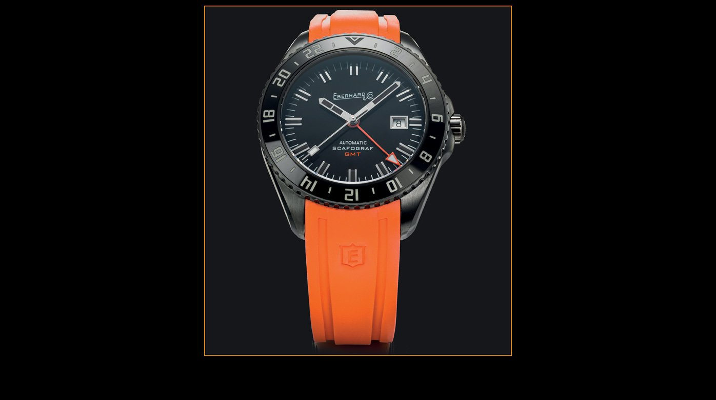 Eberhard & Co. - An orange strap for the Scafograf GMT