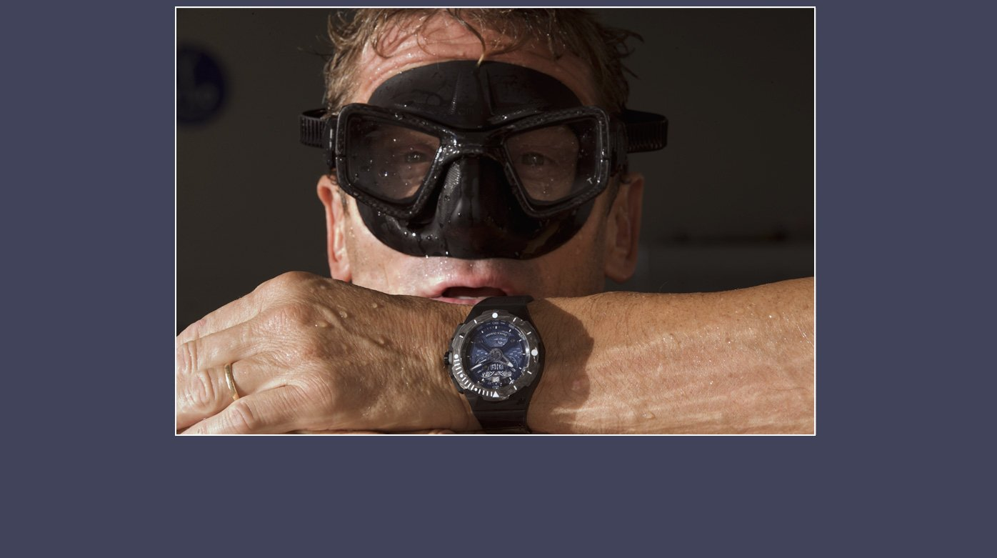 Franck Dubarry - Umberto Pelizzari and his Franck Dubarry diver's watch