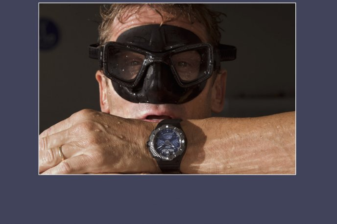 Umberto Pelizzari and his Franck Dubarry diver's watch