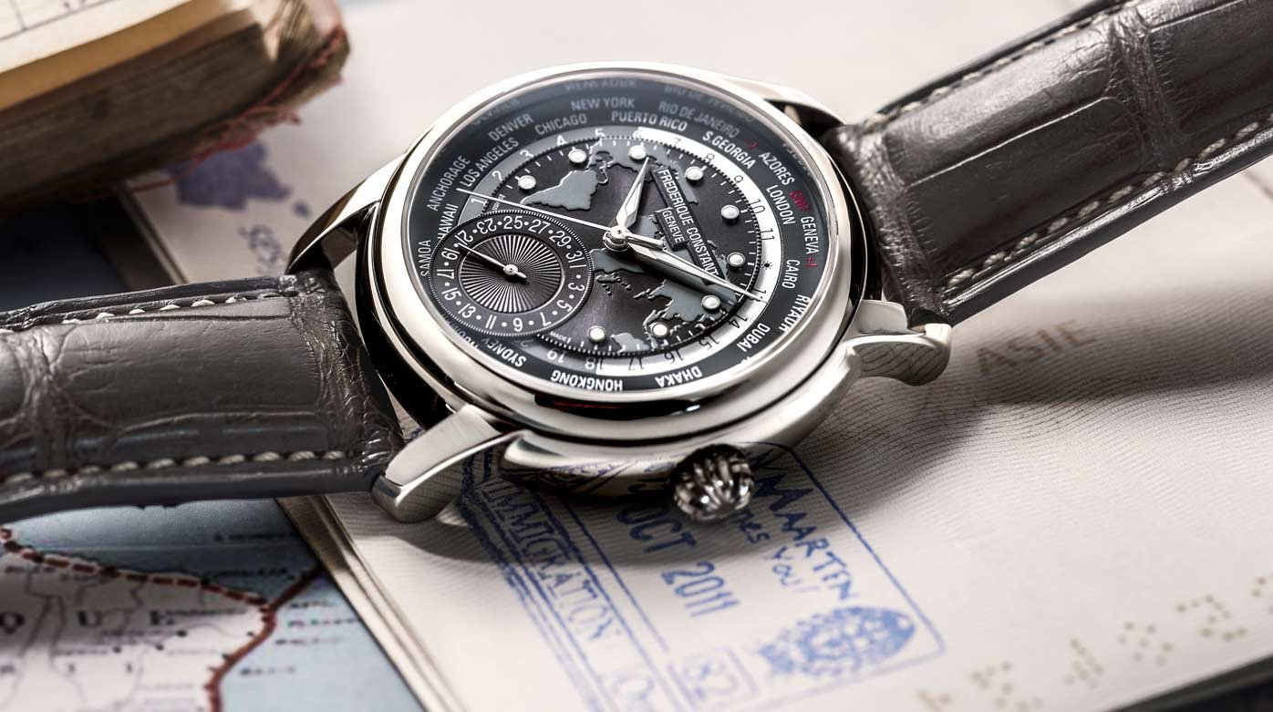 Frederique Constant - Classic Worldtimer Manufacture, grey