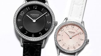 Slim d'Hermès, black and magnolia white dials Trends and style