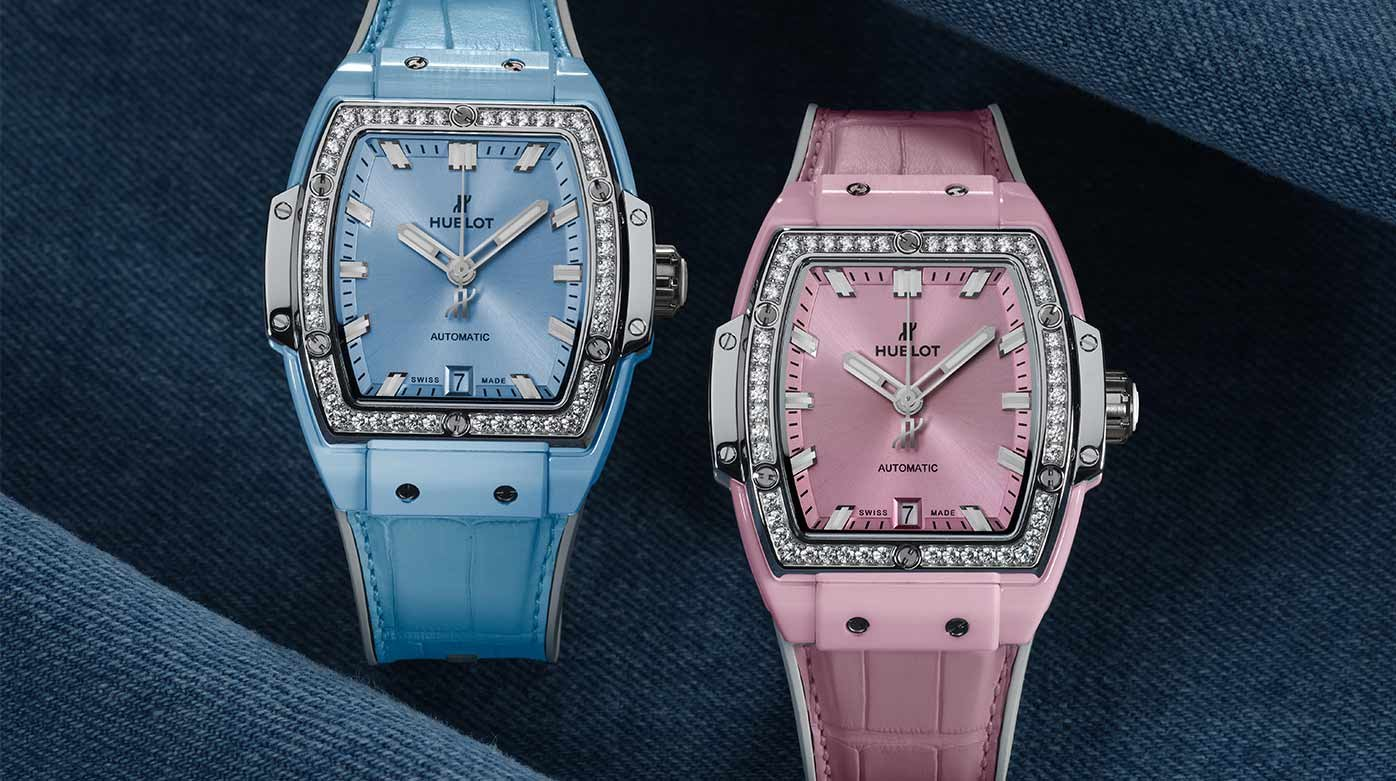 Hublot  - Spirit of Big Bang Light Blue & Pink Ceramic