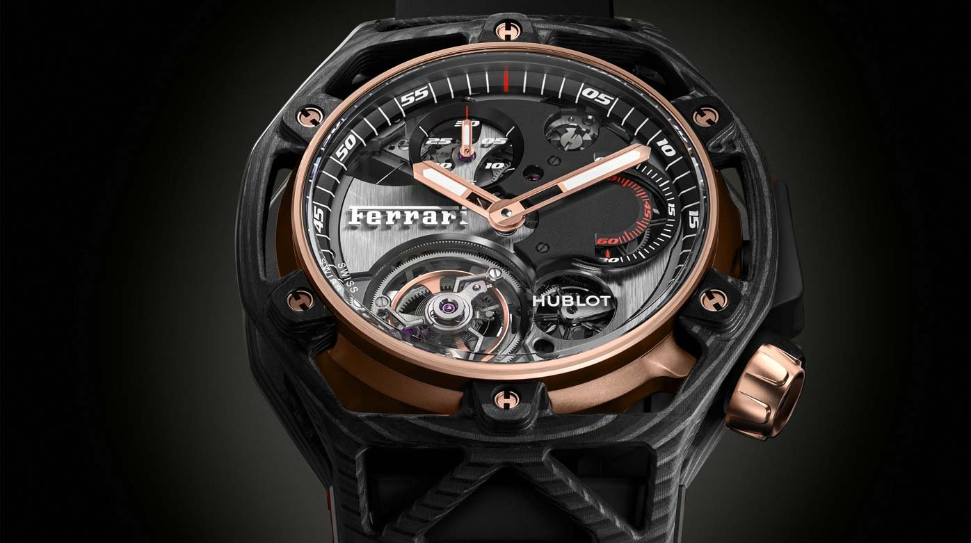 Hublot - A Techframe Tourbillon Chronograph to be sold at auction