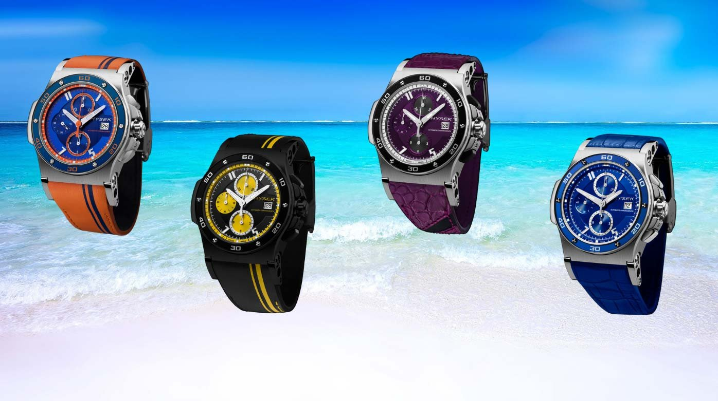 Hysek - Colourful Abyss models for the summer