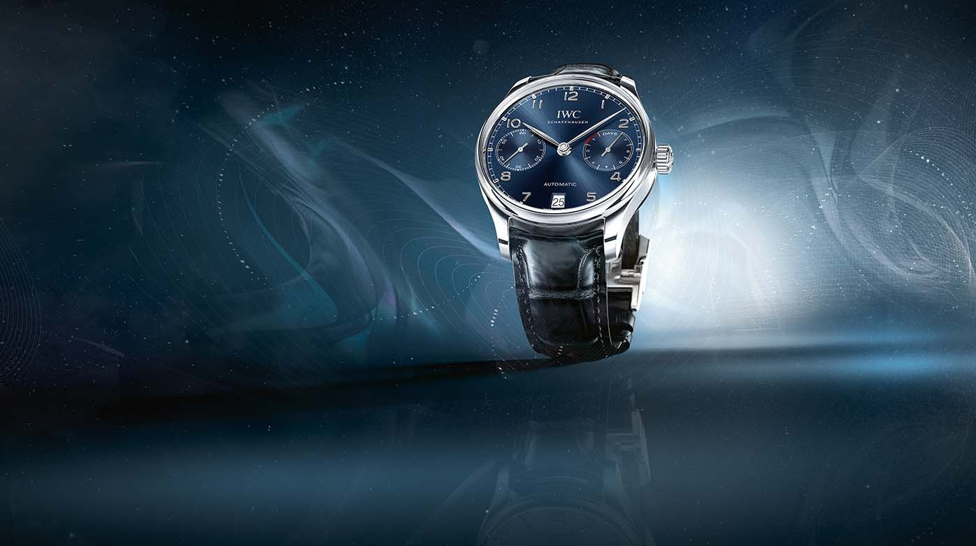 IWC - Two versions of Portugieser models in blue