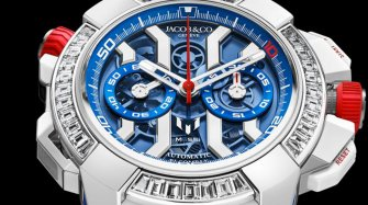 Epic X Chrono messi White Gold, Titanium and Baguette  Trends and style