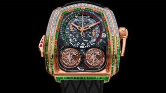 Twin Turbo Furious Baguette White Diamonds & Tsavorites Rose Gold Trends and style